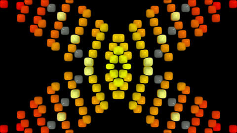 3d square shaped flare neon... Stock Video Footage