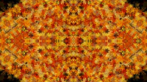 golden maple leafs shaped fancy flower pattern,wedding... Stock Video Footage