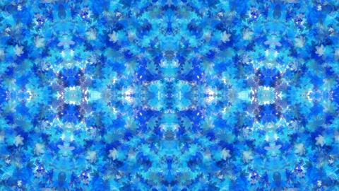 blue maple leafs shaped fancy flower pattern,spring... Stock Video Footage