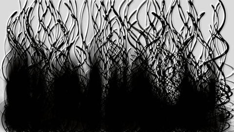 black long grass,ink and smoke.seaweed,pollution,oil,cancer,disease,fire,ghosts,monsters,horror,reed Animation