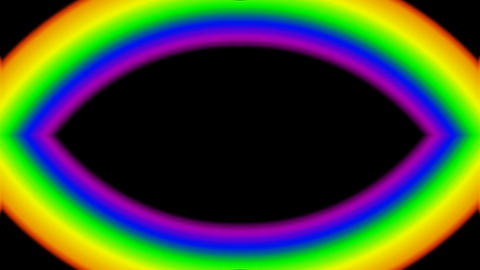 eye,rainbow,oval,like as god... Stock Video Footage