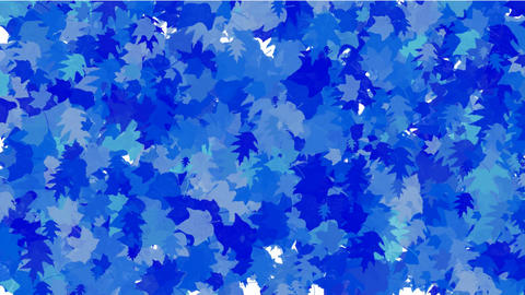 group of blue maple leafs flying,seamless,loop,dream,vision,idea,creativity,vj,beautiful,art,decorat Animation