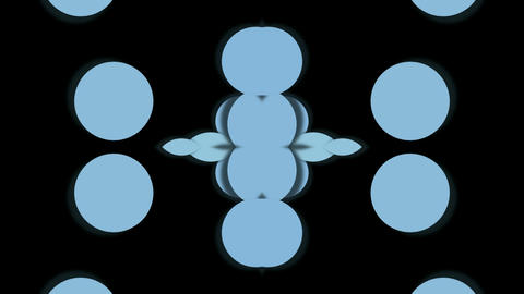 blue circle shaped fancy pattern,geometry... Stock Video Footage