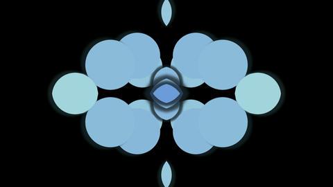 blue circle shaped fancy pattern,geometry... Stock Video Footage