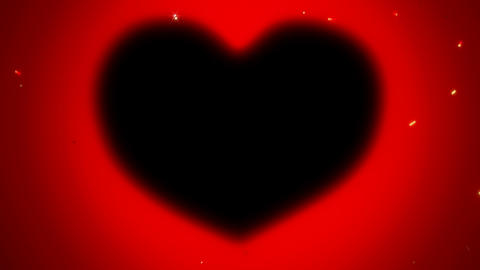 Red St. Valentine\'s Day heart shape and sparkles Stock Video Footage