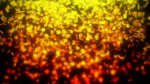 Loopable orange snowfall at nightrange snowfall at night Animation