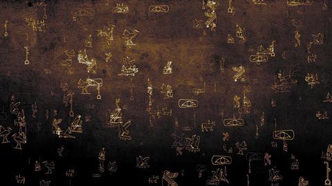 3D Hieroglyphs 01 Stock Video Footage