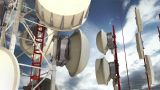 Antennas Clouds Timelapse 06 stock footage