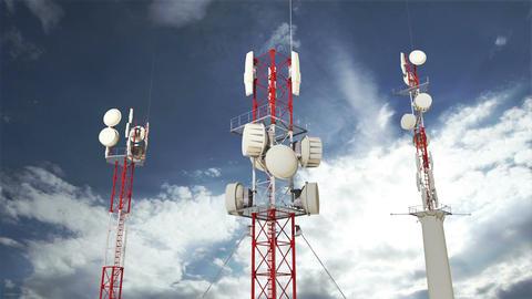 Antennas Clouds Timelapse 10 Animation