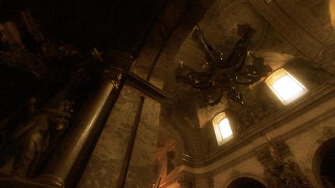 Church Inside 03 Pans Footage