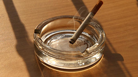 Cigarette and Ashtray 01 Stock Video Footage