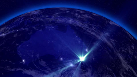 Earth from Space 05 Lightstreaks over Australia Animation