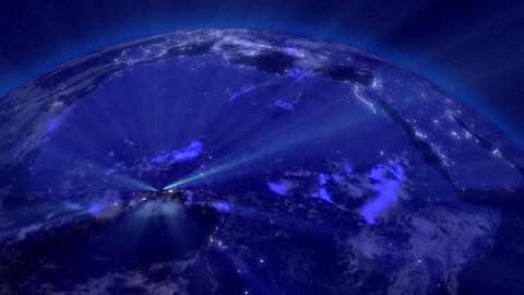 Earth from Space 11 Lightstreaks over Africa Animation