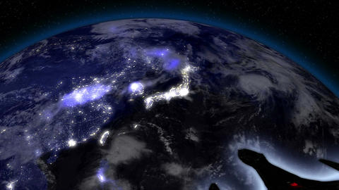 Earth from Space Alien Invasion 03 Far East Animation