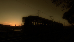 Evening Silhouettes 01 Stock Video Footage