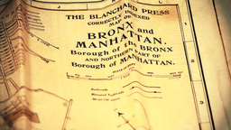 Exclusive New York Bronx and Manhattan Map from 1903 01... Stock Video Footage