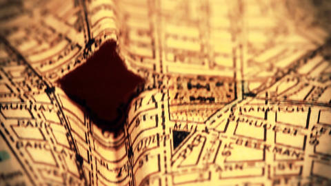 Exclusive New York Map from 1903 03 focusing on Broadway stylized Footage