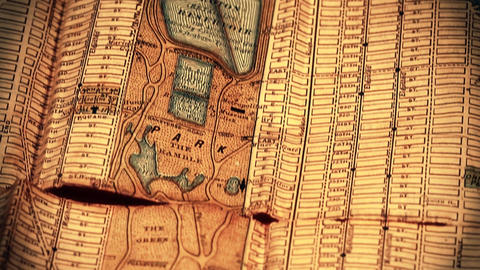 Exclusive New York Map from 1903 05 focusing on Grand... Stock Video Footage