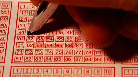 Fill Out Lottery Ticket 01 Stock Video Footage