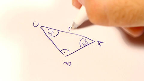 Sinus Cosinus Tangent Basic Geometrical Formulas 01 Stock Video Footage