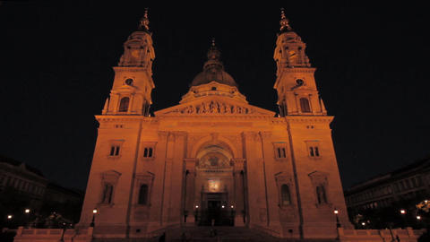 St Stephen Basilica Budapest 01 Stock Video Footage