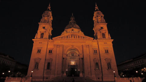 St Stephen Basilica Budapest 01 Stock Video Footage