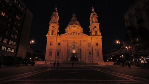 St Stephen Basilica Budapest 03 Stock Video Footage