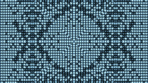 Electronic dots Background,disco flower... Stock Video Footage