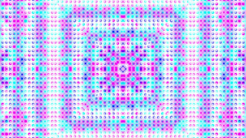 disco flower neon,particle,mosaics,puzzle,Electronic dots... Stock Video Footage