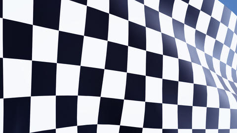 close up checkered flag bluesky Stock Video Footage