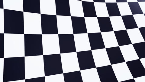 close up checkered flag bluesky Animation
