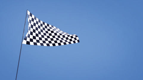 checkered flag bluesky Stock Video Footage
