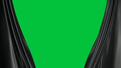 dark curtains transition Stock Video Footage