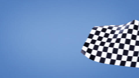 Moving checkered flags Animation