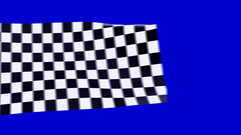 Moving checkered flags Stock Video Footage