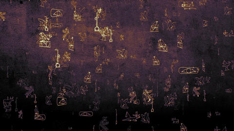 3D Hieroglyphs 04 Animation