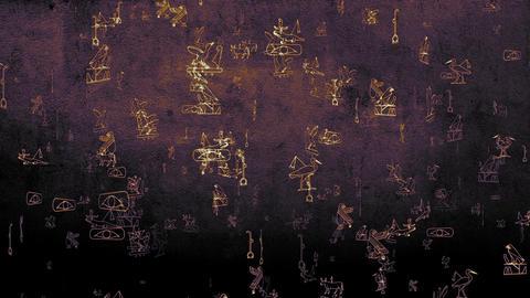 3D Hieroglyphs 04 Stock Video Footage