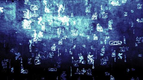 3D Hieroglyphs 08 Animation