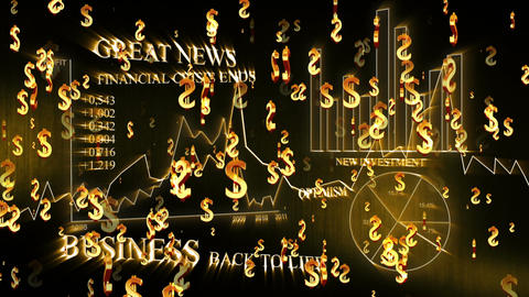 3D Business Dollar 02 Animation