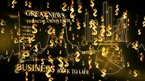 3D Business Dollar 02 Stock Video Footage
