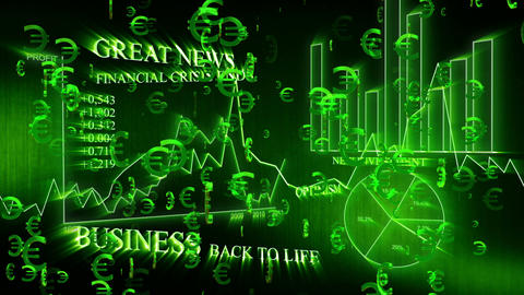 3D Business Euro 01 Stock Video Footage