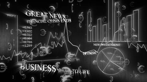 3D Business Euro 03 Stock Video Footage