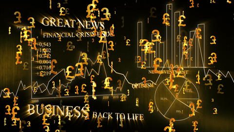 3D Business Pound 02 Stock Video Footage