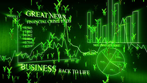 3D Business Yen 01 Stock Video Footage