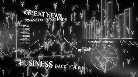 3D Business Yen 03 Stock Video Footage