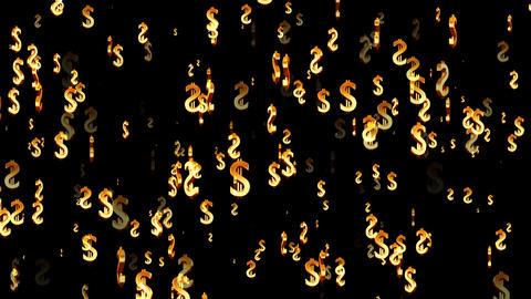 3D Dollar Loop 02 alpha Animation