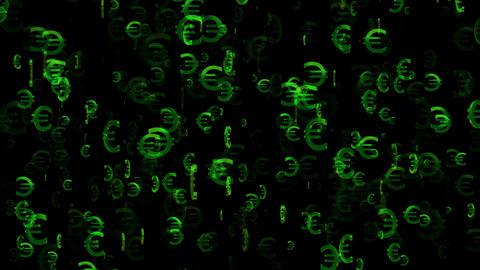 3D Euro Loop 01 alpha Stock Video Footage