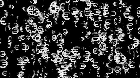 3D Euro Loop 03 alpha Stock Video Footage