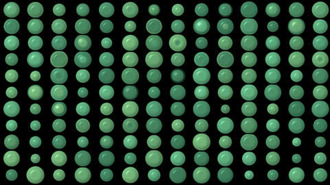 green circle array... Stock Video Footage