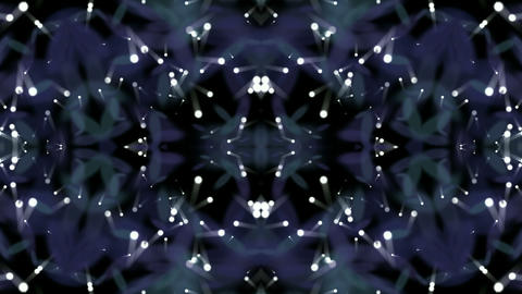disco flower neon pattern,stars and dots shaped as fancy... Stock Video Footage